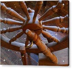The Ashford Wheel Acrylic Print by Aliceann Carlton