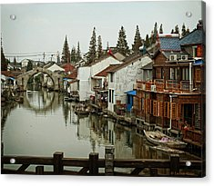 Acrylic Print featuring the photograph The Asian Venice  by Lucinda Walter