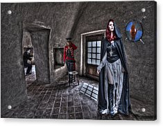 The Audition. Acrylic Print by Roy Burns