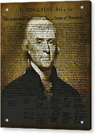 The Author Of America Acrylic Print by Bill Cannon