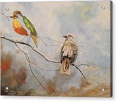 The Autumn Bird Acrylic Print