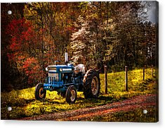 The Autumn Blues Acrylic Print by Debra and Dave Vanderlaan