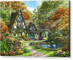 The Autumn Cottage Acrylic Print by Dominic Davison