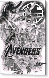 The Avengers Acrylic Print by David Horton