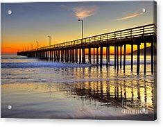 The Avila Beach Pier At Sunset Acrylic Print