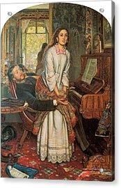 The Awakening Conscience Acrylic Print by William Holman Hunt
