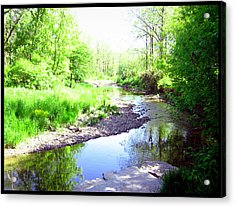 The Babbling Stream Acrylic Print