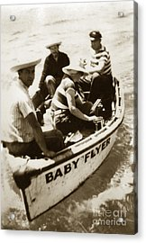 The Baby Flyer With Ed Ricketts And John Steinbeck  In Sea Of Cortez  1940 Acrylic Print