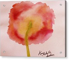 The Back Side Of A Poppy Acrylic Print