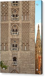The Balconies Of Seville Cathedral Belfry Acrylic Print by Viacheslav Savitskiy