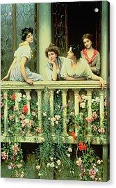 The Balcony Acrylic Print by Eugen von Blaas