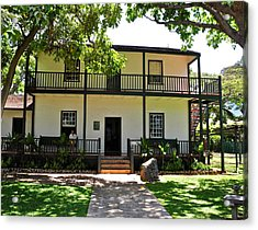 The Baldwin House In Lahaina I Acrylic Print by Kirsten Giving