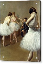 The Ballet Lesson Acrylic Print by Pierre Carrier-Belleuse