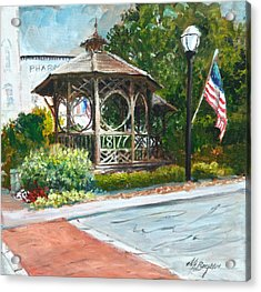 The Bandstand In Triangle Park Chagrin Falls Acrylic Print