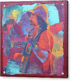 Acrylic Print featuring the painting The Banjo Player by Nancy Jolley