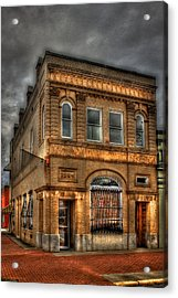 Stability And Instability 1904 Bank Building Eatonton Georgia Acrylic Print