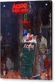 The Bar Acrylic Print by Steve K