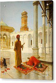 Muslim Prayer Acrylic Print by Albert Joseph Franke