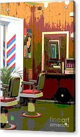 The Barber Shop Acrylic Print by Sophie Vigneault