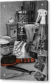 The Barber's Brush Acrylic Print