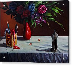 The Bard And The Bouquet Acrylic Print
