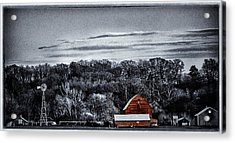The Barn And The Windmill Acrylic Print
