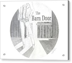 The Barn Door Logo Rendering Acrylic Print by PJ Jackson