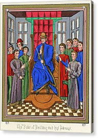 The Barons Of Bretagne Meet To Acrylic Print by Mary Evans Picture Library