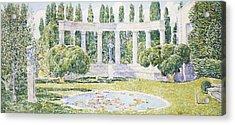 The Bartlett Gardens Acrylic Print by Childe Hassam