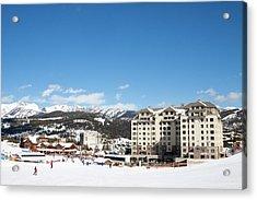 The Base Area At Big Sky Resort Acrylic Print