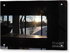 Acrylic Print featuring the photograph The Basement Window by John Black