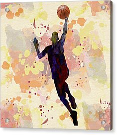 The Basket Player  Acrylic Print by Celestial Images