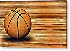 The Basketball Acrylic Print by Florian Rodarte