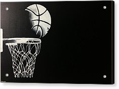 The Basketball Acrylic Print by Sanjay Thamake
