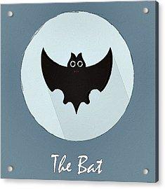 The Bat Cute Portrait Acrylic Print by Florian Rodarte