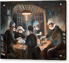 Acrylic Print featuring the painting Tater Eatin by Randol Burns