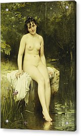 The Bather Acrylic Print by Leon Bazile Perrault