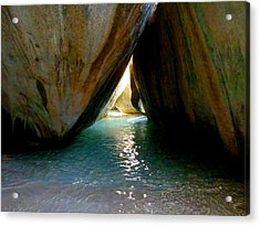 The Baths At Virgin Gorda Acrylic Print