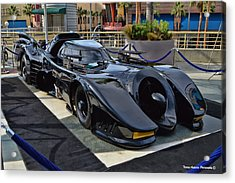 The Batmobile Acrylic Print by Tommy Anderson
