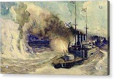 The Battle Between The Black Sea Fleet And The Armoured Cruiser Goeben Acrylic Print