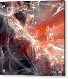 Acrylic Print featuring the digital art The Battle by Margie Chapman