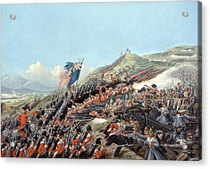 The Battle Of Alma On 20th September Acrylic Print by Edmund Walker