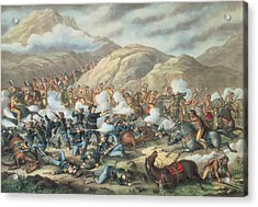 The Battle Of Little Big Horn, June 25th 1876 Acrylic Print by American School