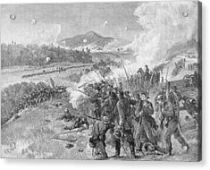 The Battle Of Resaca, Georgia, May 14th 1864, Illustration From Battles And Leaders Of The Civil Acrylic Print