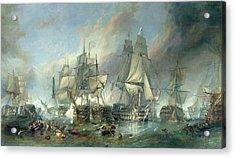 The Battle Of Trafalgar, 1805 Acrylic Print