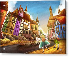 The Bavarian Village Acrylic Print by Reynold Jay