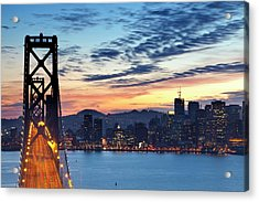 The Bay Bridge From Treasure Island Acrylic Print