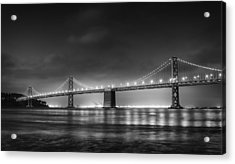 The Bay Bridge Monochrome Acrylic Print