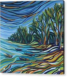 The Bay In Colors Acrylic Print by Zofia  Kijak