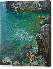 The Bay Acrylic Print by Korobkin Anatoly